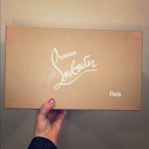christian louboutin shoe box